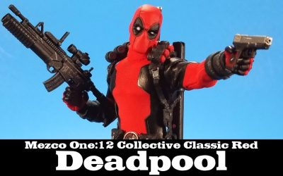 Mezco One:12 Collective Deadpool Classic Red Marvel
