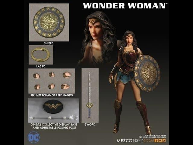 MEZCO One 12 Collective WONDER WOMAN Action Figure Unboxing &