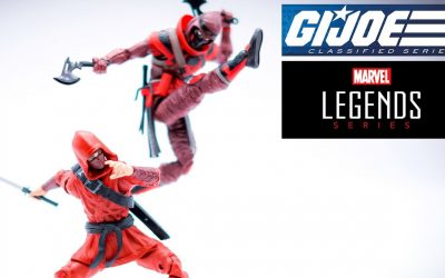G.I. Joe Classified Red Ninja vs Marvel Legends Hand Ninja